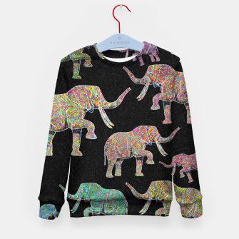 Thumbnail image of elephant Kid's sweater, Live Heroes
