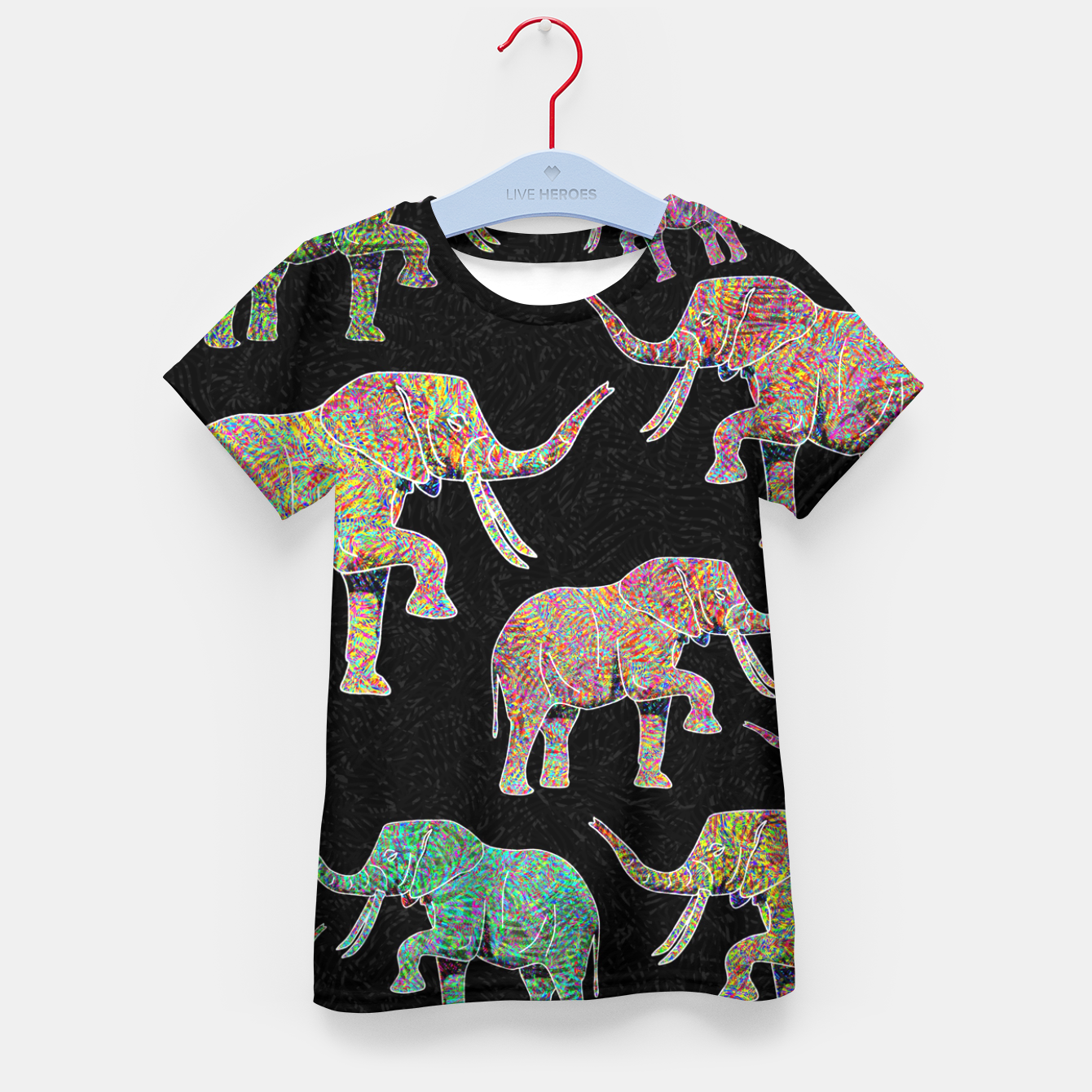 Image of elephant Kid's t-shirt - Live Heroes