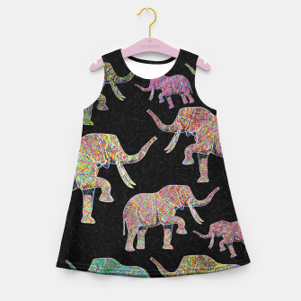 Thumbnail image of elephant Girl's summer dress, Live Heroes