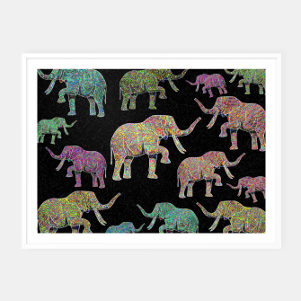 Thumbnail image of elephant Framed poster, Live Heroes