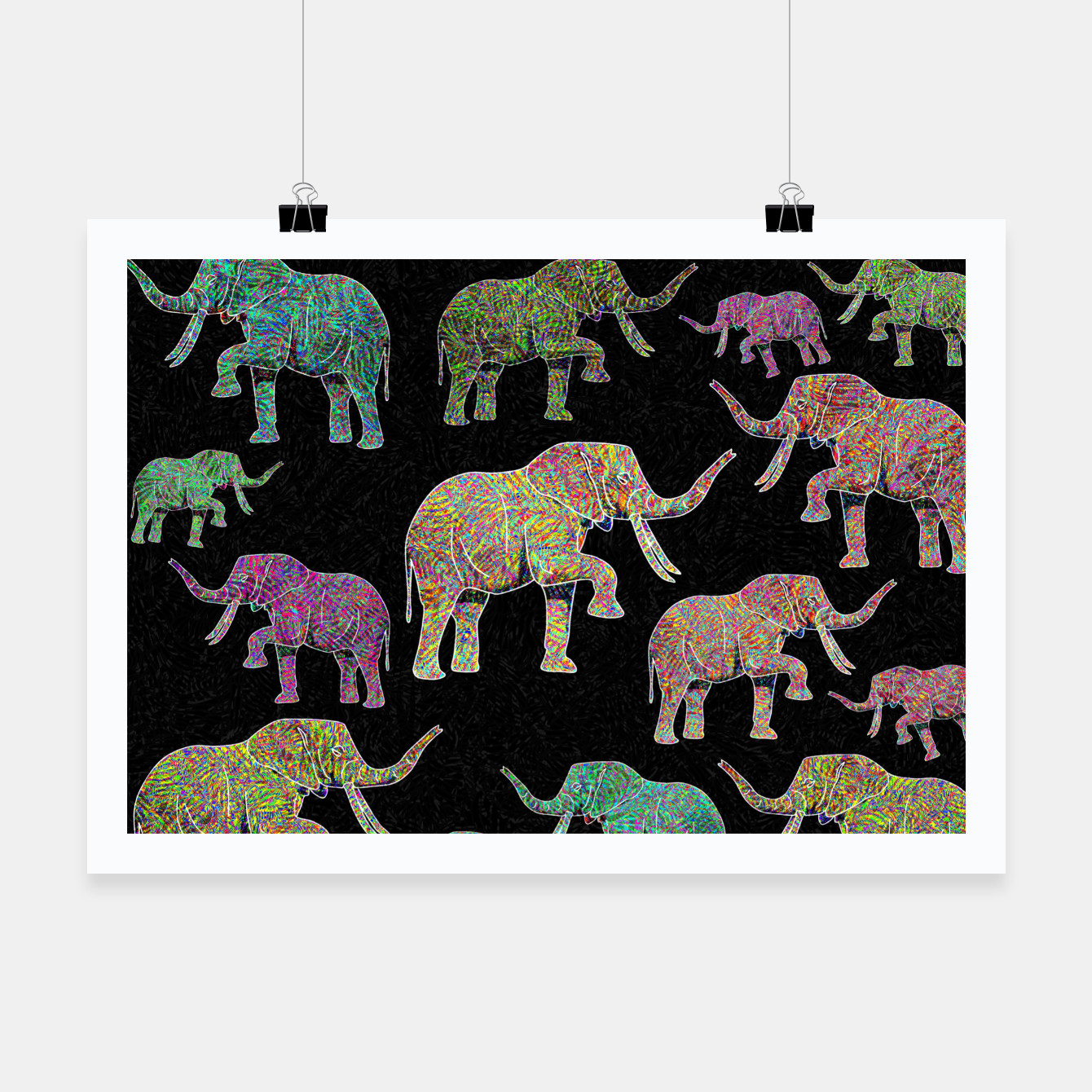 Image of elephant Poster - Live Heroes