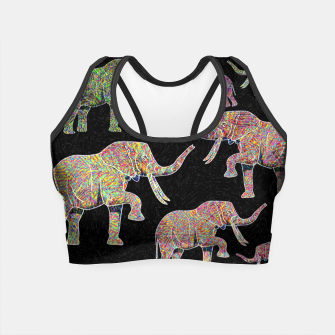 Thumbnail image of elephant Crop Top, Live Heroes