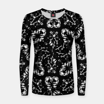 Thumbnail image of Dark Modern Abstract Pattern Women sweater, Live Heroes