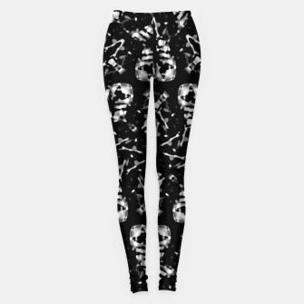 Thumbnail image of Dark Modern Abstract Pattern Leggings, Live Heroes