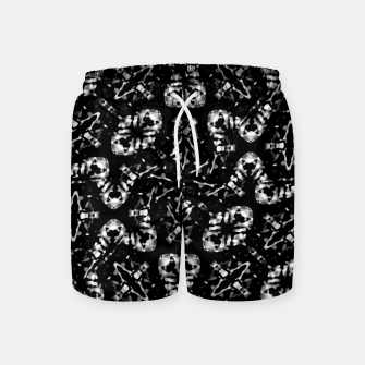 Thumbnail image of Dark Modern Abstract Pattern Swim Shorts, Live Heroes