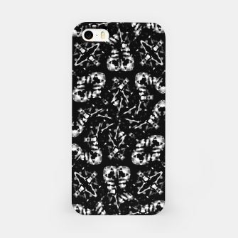 Miniatur Dark Modern Abstract Pattern iPhone Case, Live Heroes