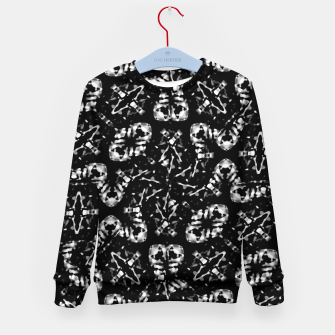 Miniatur Dark Modern Abstract Pattern Kid's sweater, Live Heroes