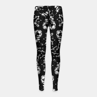 Thumbnail image of Dark Modern Abstract Pattern Girl's leggings, Live Heroes