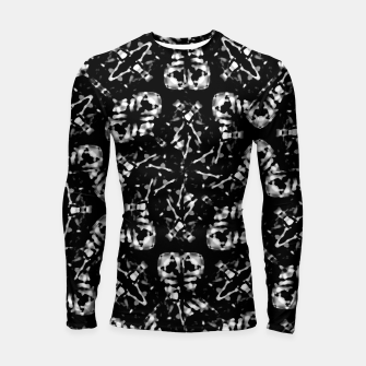 Thumbnail image of Dark Modern Abstract Pattern Longsleeve rashguard , Live Heroes