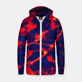 Miniaturka Blue red abstract Zip up hoodie, Live Heroes