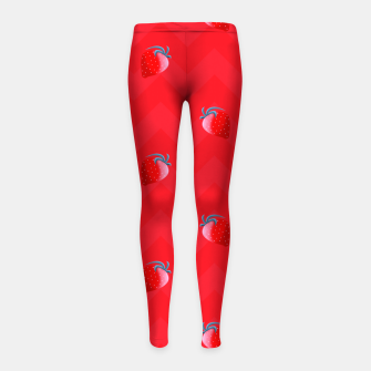 Thumbnail image of happy strawberry Girl's leggings, Live Heroes