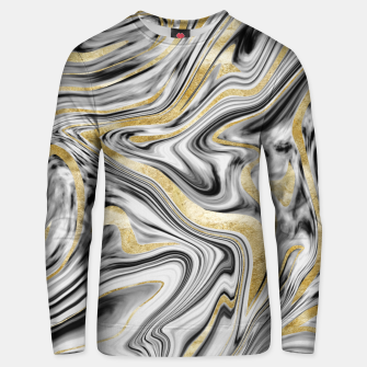 Thumbnail image of Gray Black White Gold Marble #1 #decor #art  Unisex sweatshirt, Live Heroes