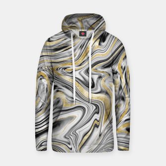 Thumbnail image of Gray Black White Gold Marble #1 #decor #art  Kapuzenpullover, Live Heroes