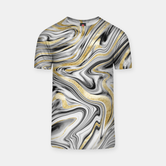Thumbnail image of Gray Black White Gold Marble #1 #decor #art  T-Shirt, Live Heroes