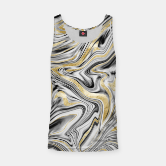 Thumbnail image of Gray Black White Gold Marble #1 #decor #art  Muskelshirt , Live Heroes
