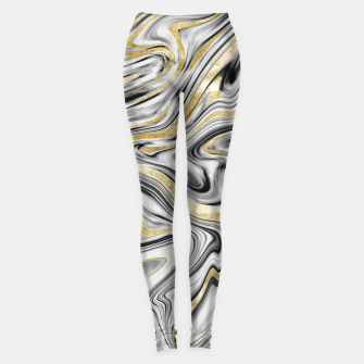 Gray Black White Gold Marble #1 #decor #art  Leggings thumbnail image