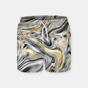 Thumbnail image of Gray Black White Gold Marble #1 #decor #art  Badeshorts, Live Heroes