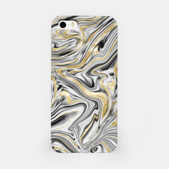 Gray Black White Gold Marble #1 #decor #art  iPhone-Hülle thumbnail image