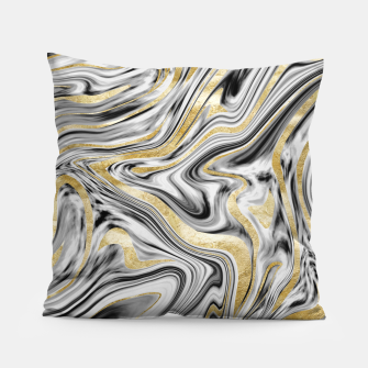 Gray Black White Gold Marble #1 #decor #art  Kissen thumbnail image