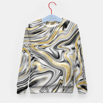 Gray Black White Gold Marble #1 #decor #art  Kindersweatshirt thumbnail image