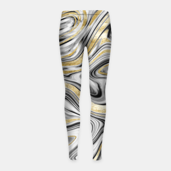Thumbnail image of Gray Black White Gold Marble #1 #decor #art  Kinder-Leggins, Live Heroes