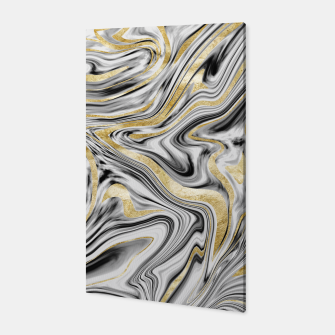 Thumbnail image of Gray Black White Gold Marble #1 #decor #art  Canvas, Live Heroes