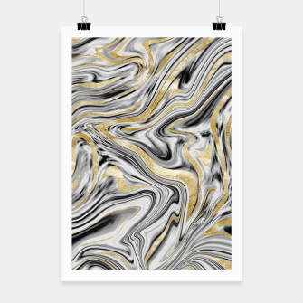 Thumbnail image of Gray Black White Gold Marble #1 #decor #art  Plakat, Live Heroes