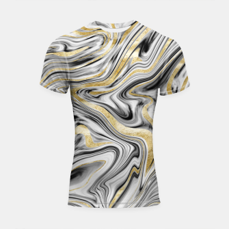 Gray Black White Gold Marble #1 #decor #art  Shortsleeve rashguard thumbnail image