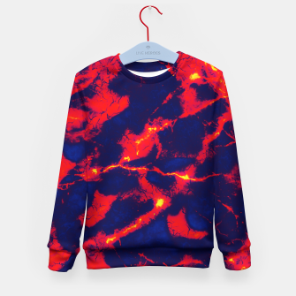 Thumbnail image of Blue red abstract Kid's sweater, Live Heroes