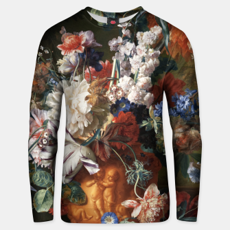 Miniaturka Bouquet Of Flowers In An Urn by Jan van Huysum Unisex sweater, Live Heroes