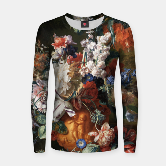 Miniaturka Bouquet Of Flowers In An Urn by Jan van Huysum Women sweater, Live Heroes