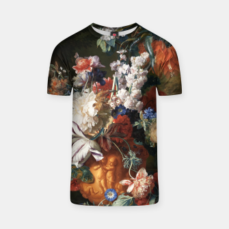 Miniaturka Bouquet Of Flowers In An Urn by Jan van Huysum T-shirt, Live Heroes