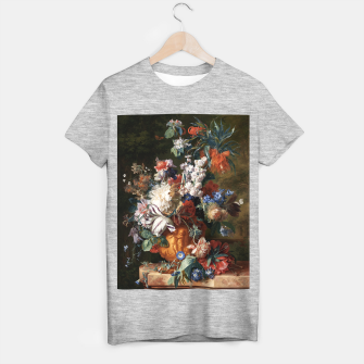 Miniaturka Bouquet Of Flowers In An Urn by Jan van Huysum T-shirt regular, Live Heroes