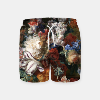 Miniaturka Bouquet Of Flowers In An Urn by Jan van Huysum Swim Shorts, Live Heroes