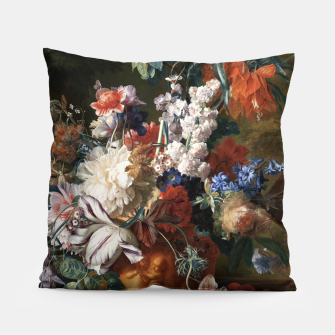Miniaturka Bouquet Of Flowers In An Urn by Jan van Huysum Pillow, Live Heroes
