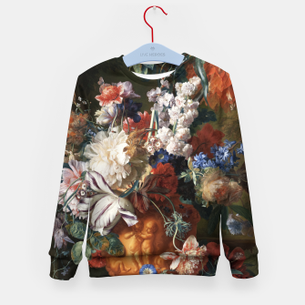 Miniaturka Bouquet Of Flowers In An Urn by Jan van Huysum Kid's sweater, Live Heroes