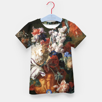 Miniaturka Bouquet Of Flowers In An Urn by Jan van Huysum Kid's t-shirt, Live Heroes