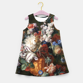 Miniaturka Bouquet Of Flowers In An Urn by Jan van Huysum Girl's summer dress, Live Heroes