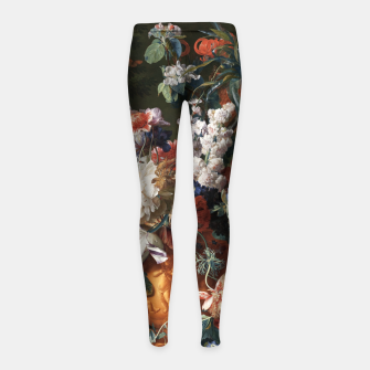 Miniaturka Bouquet Of Flowers In An Urn by Jan van Huysum Girl's leggings, Live Heroes