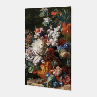 Miniaturka Bouquet Of Flowers In An Urn by Jan van Huysum Canvas, Live Heroes