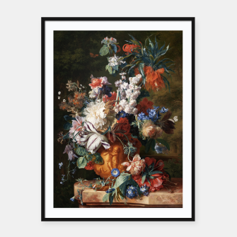 Miniaturka Bouquet Of Flowers In An Urn by Jan van Huysum Framed poster, Live Heroes