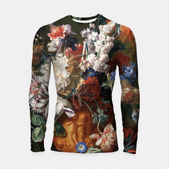 Miniaturka Bouquet Of Flowers In An Urn by Jan van Huysum Longsleeve rashguard , Live Heroes