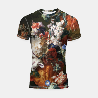 Miniaturka Bouquet Of Flowers In An Urn by Jan van Huysum Shortsleeve rashguard, Live Heroes