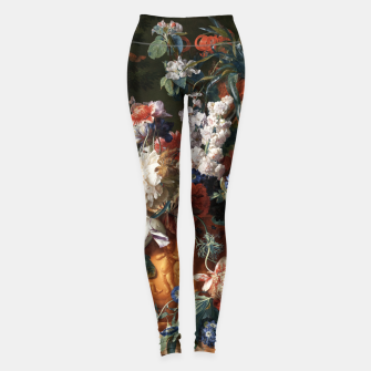 Miniaturka Bouquet Of Flowers In An Urn by Jan van Huysum Leggings, Live Heroes