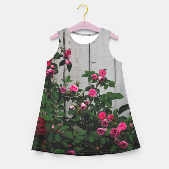 Miniatur By the wall Girl's summer dress, Live Heroes