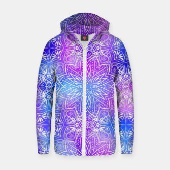 Thumbnail image of Colorful silver mandala Zip up hoodie, Live Heroes