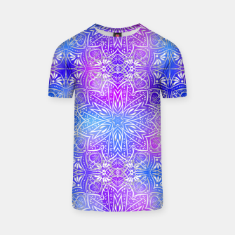 Thumbnail image of Colorful silver mandala T-shirt, Live Heroes