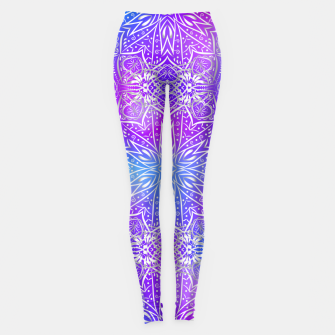 Thumbnail image of Colorful silver mandala Leggings, Live Heroes
