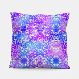 Thumbnail image of Colorful silver mandala Pillow, Live Heroes