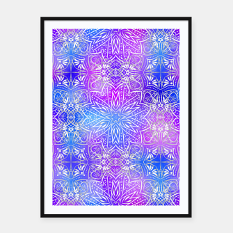 Thumbnail image of Colorful silver mandala Framed poster, Live Heroes
